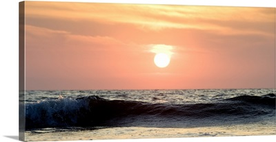 Ocean Wave At Sunset, Puerto Vallarta, Mexico