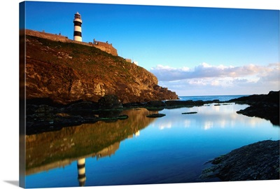 Old Head Of Kinsale, County Cork, Ireland; Lighthouse On Cliff