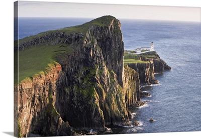 Overview Of Basalt Sea Cliffs, Neist Point, Isle Of Skye, Scotland