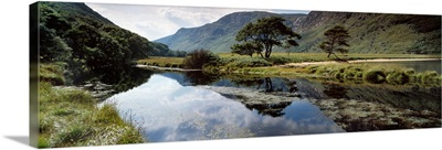 Owenveagh River, Glenveagh National Park, Co Donegal, Ireland, Reflections On A Lake