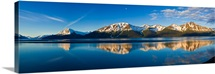Panoramic view of Turnagain Arm and Kenai Mountains near Girdwood