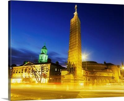 Parnell Square, Dublin, Ireland, Parnell Monument And Rotunda Hospital