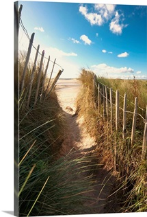 Pathway To The Beach, Beadnell, Northumberland, England