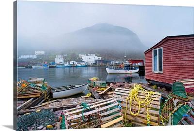 Petty Harbour In Fog, Newfoundland, Canada