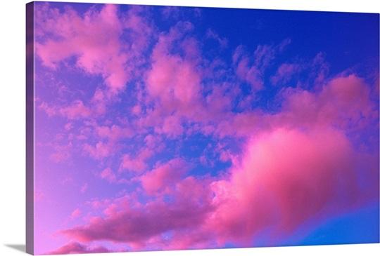 Pink Clouds at Sunset Alaska