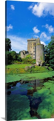 Pond In Front Of A Castle, Blarney Castle, County Cork, Republic Of Ireland