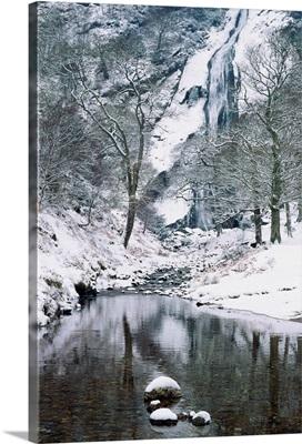 Powerscourt Waterfall In Winter, County Wicklow, Ireland