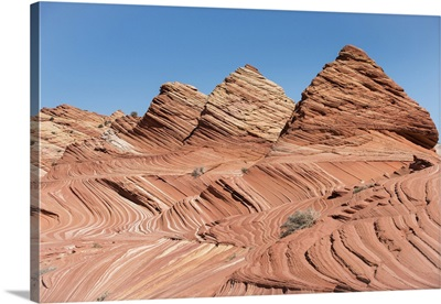 Pyramid Shaped Sandstone Rock Formations At Coyote Buttes North