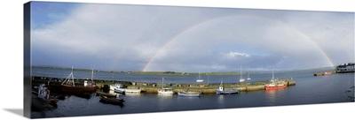 Rainbow Over Harbour, Roundstone, Ireland