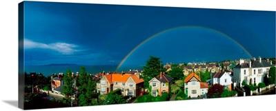 Rainbow Over Housing, Monkstown, Co Dublin, Ireland