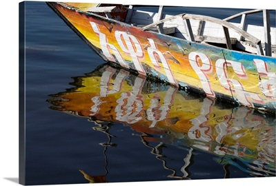 Reflection Of Boat In Lake; Ethiopia