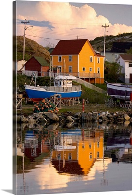 Reflection Of House In Water, Newfoundland And Labrador, Canada