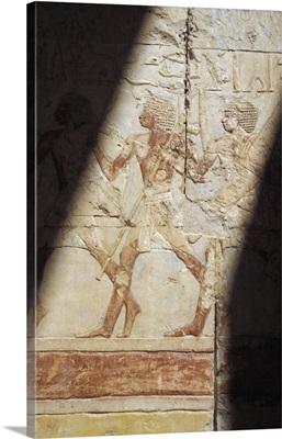 Reliefs At Hatshepsut Temple; Luxor, Egypt