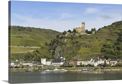 Rhine Valley, Castle Gutenfels, Kaub, Loreley, Rhein-Lahn-Kreis, Germany