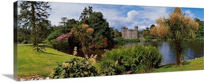 River In Front Of A Castle, Johnstown Castle, County Wexford, Republic Of Ireland