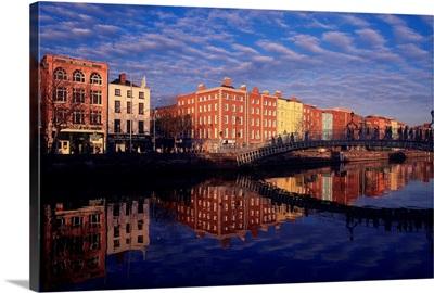 River Liffey And Halfpenny, Bridge, Dublin, Ireland