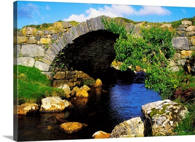 River Owenwee, Poisoned Glen, Co Donegal, Ireland; Bridge Over A River