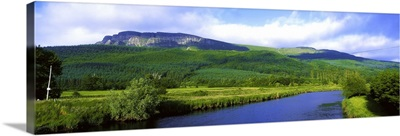 River Roe, Binevenagh, Co Derry, Ireland, Basalt Plateau And River From Limavady
