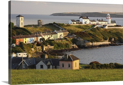 Roches Point Lighthouse In Cork Harbour In Munster Region; County Cork, Ireland