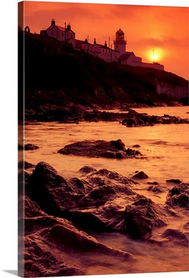 Roches Point, Whitegate, Cork Harbour, Ireland; Lighthouse And Seascape
