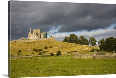 Rock Of Cashel, Cashel, County Tipperary, Ireland; Castle On Hill And Abbey Ruins