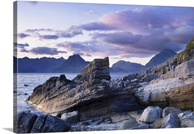Rocky Shore And Lake, Loch Scavaig, Scotland