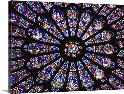 Rose Window In The Notre Dame Cathedral