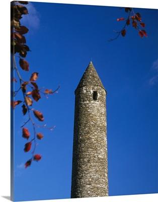 Round Stone Tower At Glendalough