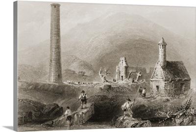 Round Tower, Glendalough, County Wicklow, Ireland