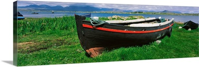 Roundstone, Connemara, Co Galway, Ireland, Currach On The Shore
