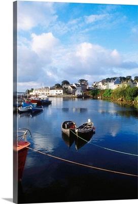 Roundstone, Connemara, Co Galway, Ireland, Town On The Coast