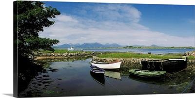 Roundstone, Connemara, County Galway, Ireland, Boats Near The Shore