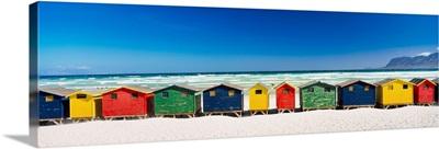 Row Of Beach Houses On Beach