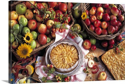 Royal Gala and Granny Smith apples, crab apples and baked apple desserts
