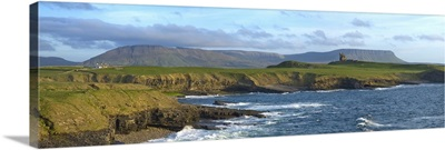 Rugged Coastline with Classiebawn Castle, Mullaghmore, County Sligo, Ireland