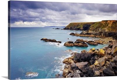 Rugged Sea Cliffs, Godrevy Point, Cornwall, England