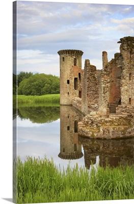 Ruin Of Caerlaverock Castle, Dumfries And Galloway, Scotland