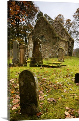 Ruins Of Church And Graveyard, Argyl And Bute, Scotland