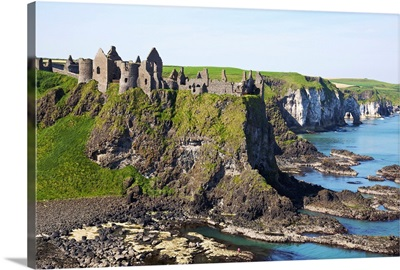 Ruins On Coastal Cliff