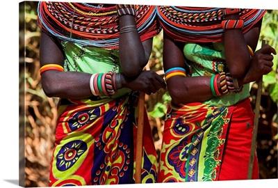 Samburu Women Dancing; Kenya
