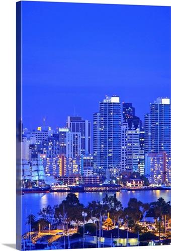 San Diego Skyline And Harbour California USA