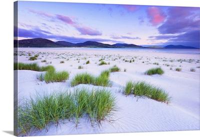 Sand Dune At Sunset, Traigh Rosamal, Isle Of Harris, Scotland