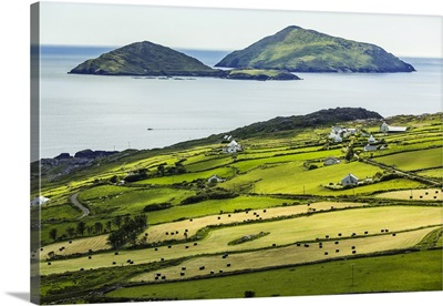 Scenic, Coastal View Of Caherdaniel, Along The Ring Of Kerry, County Kerry, Ireland