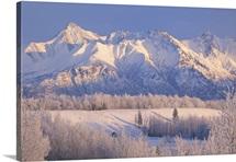Scenic landscape of Byers Peak and Matanuska Peak