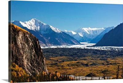 Scenic of Lion's Head Mountain and the Matanuska Glacier, Chugach Mountains