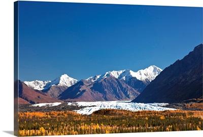 Scenic of Matanuska Glacier and Chugach Mountains, Southcentral Alaska, Autumn