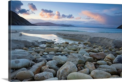 Scenic View Of Keem Strand At Early Morning, Achill Island, County Mayo, Ireland