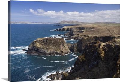 Sea Cliffs And Coastline Near Erris Head, County Mayo, Ireland