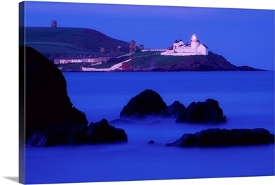 Seascape With Lighthouse, Roches Point, Whitegate, County Cork, Ireland