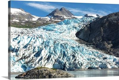 Shoup Glacier and Chugach Mountains, Prince William Sound, Valdez, Alaska
